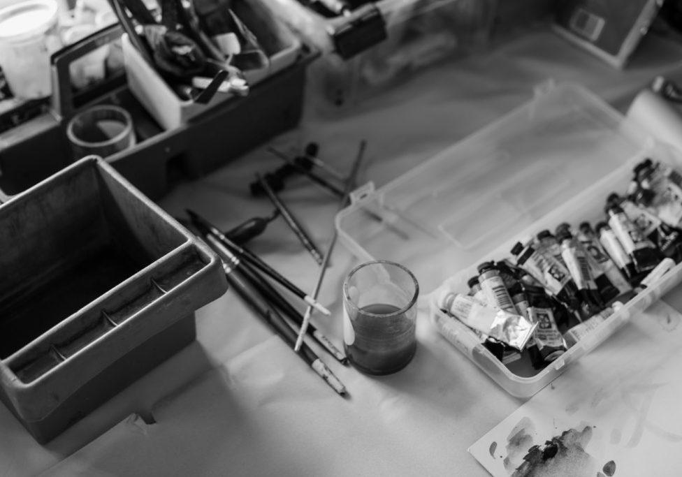 artist's painting tools